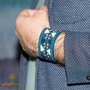 دستبند سوزندوزی نوشر