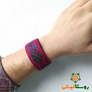 دستبند سوزندوزی مردانه طرح شابان