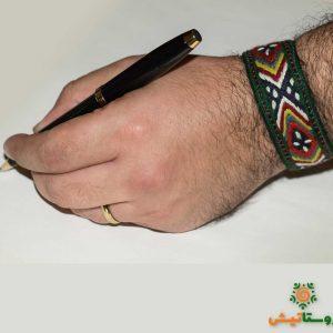 دستبند سوزندوزی مردانه گهرام