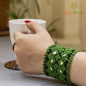دستبند سوزندوزی هامین سبز