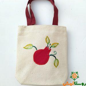 کیسه پارچهای خرید طرح انار کوچک