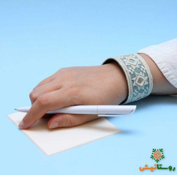 دستبند سوزندوزی کتر سفید