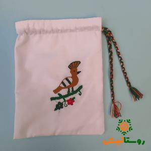 کیسه خرید پارچه ای گل دوزی