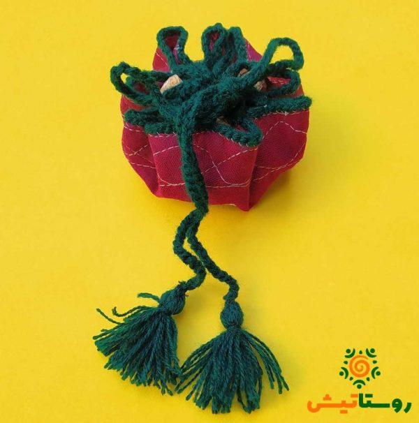 کیسه قند پارچه ای کوچک قطر 14