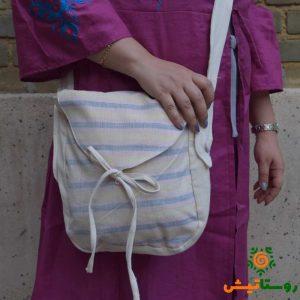 کیف دستبافت دوشی تابستانه راه راه