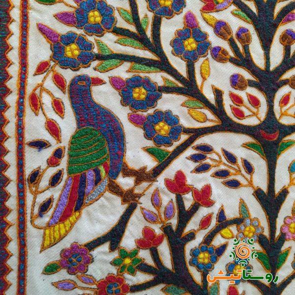 رومیزی پتهدوزی درخت و پرنده