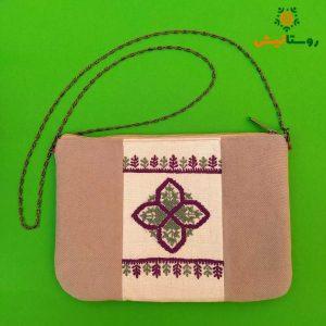 کیف دستی سوزندوزی بانوک (کرم)