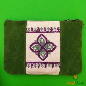 کیف دستی سوزندوزی بانوک (سبز)