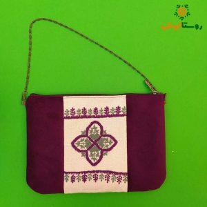 کیف دستی سوزندوزی بانوک (بنفش)