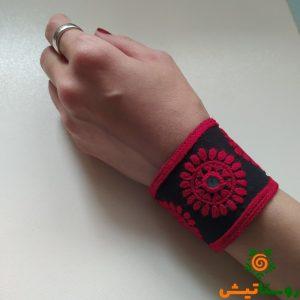 دستنبند سوزندوزی بلوچی انارتاک (قرمز2)