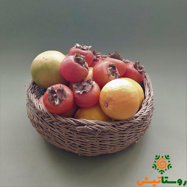 سبد میوه ترکه بافی