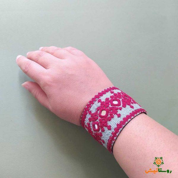 دستبند سوزندوزی بلوچی مچ رنگ