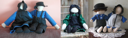 عروسک های بی چهره روستاتیش