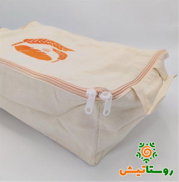 کیسه محیط زیستی نگهداری نان در فریزر نارنجی
