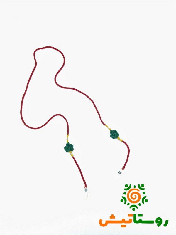 بند عینک گره سرشتی قرمز-سبز