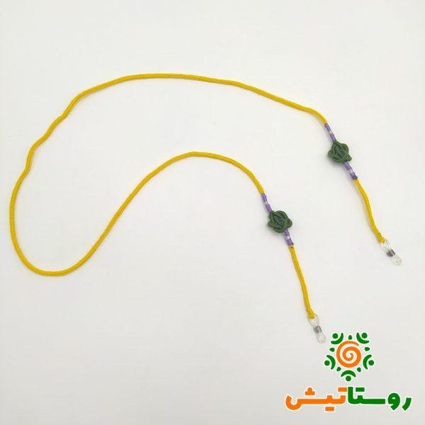 بند عینک گره سرشتی زرد - سدری