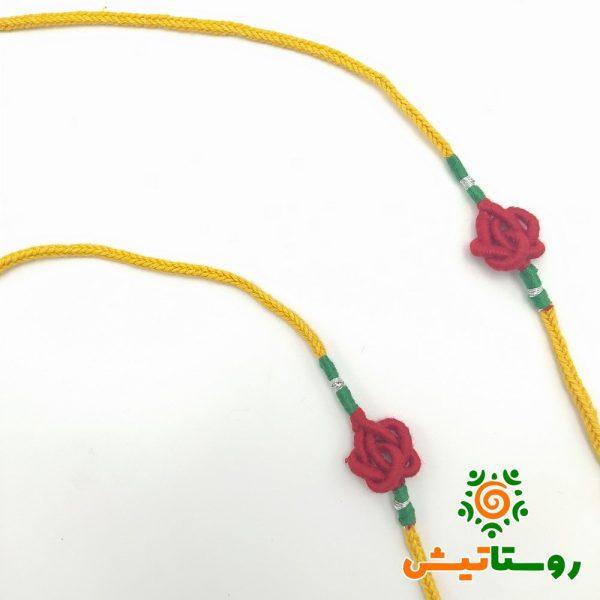 بند عینک گره سرشتی زرد-قرمز